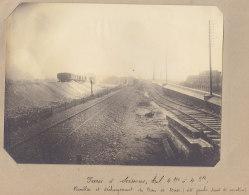 SAINT DENIS : Rue Du Landy, Saut De Mouton. Aubervilliers. Quadruplement Des Voies La Plaine Hirson. Photo Originale - Trains