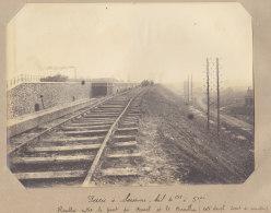 SAINT DENIS : Chemin Du Cornillon, Pont Du Canal. Quadruplement Des Voies La Plaine Hirson. Photo Originale - Trains