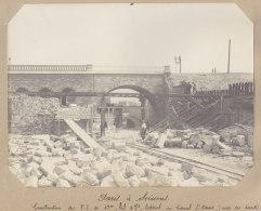 SAINT DENIS : Canal St Denis, Pont Latéral. Aubervilliers. Quadruplement Des Voies La Plaine Hirson. Photo Originale - Trains