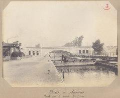 SAINT DENIS Aubervilliers:  Pont Sur Canal St Denis, Ecluse. Quadruplement  Voies La Plaine Hirson. Photo Originale - Trains