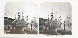 """Stereofoto, Polen/Poland/Polski, Swinemünde, Panzer """"Odin"""", Ca. 1935 - Stereoscoop"""