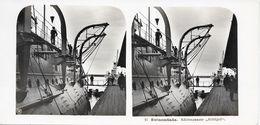 "Stereofoto, Polen/Poland/Polski, Swinemünde, Küstenpanzer ""Frithjof"", Ca. 1935 - Stereoscoop"