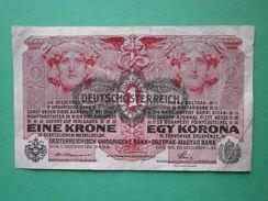 DEUTSCH-OSTERREICH 1 KRONE 1916 - [ 2] 1871-1918 : Impero Tedesco