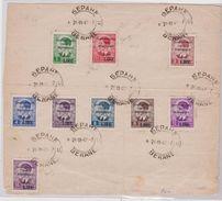 Montenegro 1942 – Ampio Frammento Affrancato Con La Serie Montenegro ( N. 40/48 ). Cert. Biondi. Cat. € 750,00. - 9. Occupazione 2a Guerra (Italia)