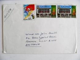 Cover From Morocco Maroc Sent To Australia - Morocco (1956-...)