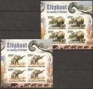 F602 2013 BURUNDI ANIMALS ELEPHANTS 2KB MNH - Elephants