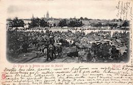 (79) Niort - La Place De La Brêche Un Jour De Marché - Foire - Niort