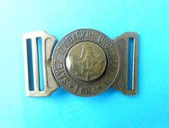 FNRJ - YUGOSLAV SCOUTS UNION Vintage Belt Buckle FIRST MODEL AFTER WW2 Scouting Scoutisme Boy Scout Boucle De Ceinture - Scouting