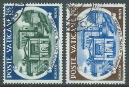 1957 VATICANO USATO ACCADEMIA DELLE SCIENZE 2 VALORI - X16-2 - Oblitérés