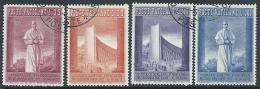 1958 VATICANO USATO ESPOSIZIONE UNIVERSALE DI BRUXELLES 4 VALORI - X16-3 - Oblitérés