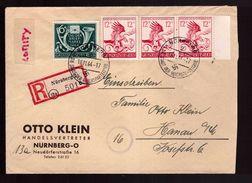 IIIe Reich Pli Recommandé 21e Anniversaire Putsch 9 Nov 1923 Obl 18.11.1944 Nurnberg Vers Hanau - Alemania