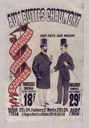 Grands Magasins Aux Buttes Chaumont Paris 1880s - Postcard Reproduction - Publicité