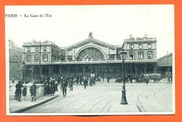 """CPA 75 Paris  """" La Gare De L'est """" - Pariser Métro, Bahnhöfe"""