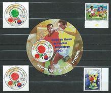 Ivory Coast 2002 Football World Cup - South Korea And Japan.Bl. And Stamps.MNH - Ivory Coast (1960-...)