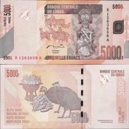 Congo DR 2005 - 5000 Francs - Pick 102 UNC - Republic Of Congo (Congo-Brazzaville)