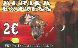 ANIMAL * GIRAFFE * PANTHER * LEOPARD * ZEBRA * ELEPHANT * Africa Express * Greece - Télécartes