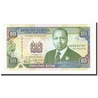Kenya, 10 Shillings, 1992-01-02, KM:24d, NEUF - Kenya