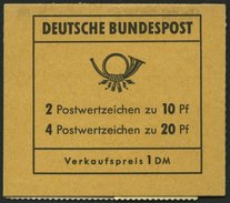 MARKENHEFTCHEN MH 14d **, 1968, Markenheftchen Brandenburger Tor, 2. Deckelseite: Postgebühren Stand Vor 1.7.1971, Prach - Markenheftchen