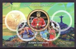 Armenien / Armenie / Armenia 2017, Rio 2016 Olympic Champion Artur Aleksanyan, Unusual SS - Used CTO - Summer 2016: Rio De Janeiro