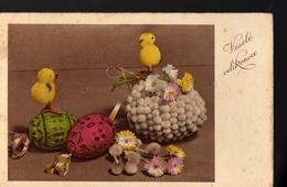 1 504 CZECHOSLOVAKIA  Chicken Dried Flowers Small Format Decorating Easter Egg Easter Postcard La Charité JETEVA Brno - Missionen