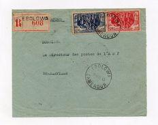 !!! PRIX FIXE : LETTRE RECO D'EBOLOWA DE 1943 AVEC TRANSITS A MOUILLA ET N'DJOLE - Cameroun (1915-1959)