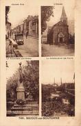 (79) Brioux Sur Boutonne - Grande Rue - L'Eglise - Monument Aux Morts - La Boutonne Et Les Ponts - Brioux Sur Boutonne