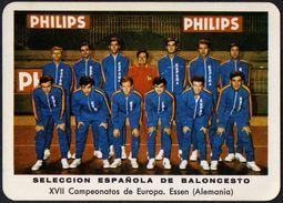 BASKETBALL - ESPANA - SELECCION ESPANOLA BALONCESTO - XVII CAMPEONATOS DE EUROPA - ESSEN 1971 - SMALL CALENDAR - Calendari