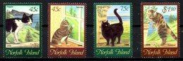 NORFOLK. N°631-4 De 1998. Chats. - Chats Domestiques