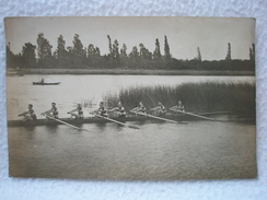 Ancienne Carte Postale Equipe Aviron De 1911 / Région De Villefranche Sur Saône / Lyon Le 20 Août 1918 - Villefranche-sur-Saone