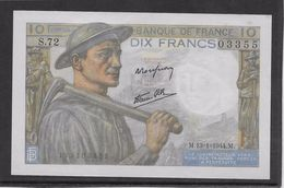 France 10 Francs Mineur 13-1-1944 - Fayette N°8-10 - SPL - 1871-1952 Circulated During XXth