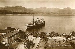 AJACCIO - LOT De 3 Cartes Départ Courrier Vue De La Place Des Palmiers Et Le Port - Ajaccio
