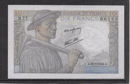 France 10 Francs Mineur 20-1-1944 - Fayette N°8-11 - Neuf - 1871-1952 Circulated During XXth