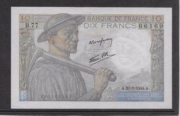 France 10 Francs Mineur 20-1-1944 - Fayette N°8-11 - Neuf - 1871-1952 Anciens Francs Circulés Au XXème