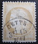 LOT R1576/53 - CERES N°59 - BEAU CàD : CETTE (Hérault) - 1871-1875 Ceres