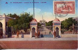 Casablanca - Caserne Du 1er Zouves. L'Entrée 1945 (002122) - Casablanca