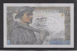 France 10 Francs Mineur 4-12-1947 - Fayette N°8-19 - TTB - 1871-1952 Anciens Francs Circulés Au XXème