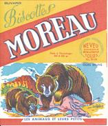 BUVARD - Biscottes MOREAU, Tours - Les Animaux Et Leurs Petits, Ours Bruns - Biscottes
