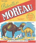 BUVARD - Biscottes MOREAU, Tours - Les Animaux Et Leurs Petits, Dromadaires - Biscottes