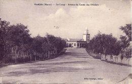 Oudjda - Le Camp. Avenue De Cerele Des Officiers 1922 (002125) - Marokko