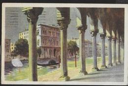VENETO - VENEZIA - CANAL GRANDE PALAZZO VENDRAMIN - DISEGNO FORMATO PICCOLO - VIAGGIATA 13.06.1949 - Venezia