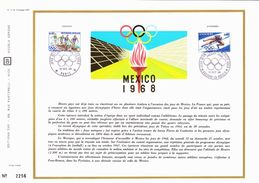 émission Commune France Andorre Sur Document CEF Oblitérations Paris Et Andorre La Vieille 12/10/1972 (CEF 56) - Summer 1968: Mexico City