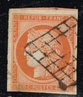 A7D-N°5 Oblit Grille  Pli Visible Au Verso Voir Scan. - 1849-1850 Cérès