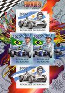Burundi  -  Formule 1  -  Ayrton Senna-Juan Manuel Fangio  -  4v MS Neuf/mint Imperf. - Cars