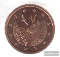 Andorra And 2 2014 Stgl./unzirkuliert Stgl./unzirkuliert 2014 2 Cent Kursmünze - Andorra