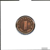 German Empire Jägernr: 361 1937 D Extremely Fine Bronze Extremely Fine 1937 1 Reich Pfennig Imperial Eagle - [ 4] 1933-1945 : Third Reich