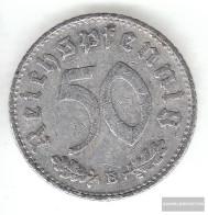 German Empire Jägernr: 372 1943 A Very Fine Aluminum Very Fine 1943 50 Reich Pfennig Imperial Eagle - [ 4] 1933-1945 : Third Reich