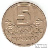 Finnland KM-Nr. : 57 1984 Sehr Schön Aluminium-Bronze 1984 5 Markkaa Eisbrecher - Finnland