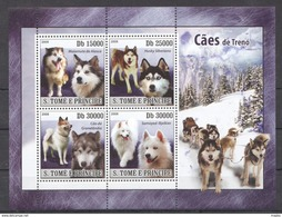 G353 2008 S.TOME E PRINCIPE PETS DOGS CAES DE TRENO 1KB MNH - Dogs