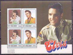 St. Vincent Elvis Presley Singer M/Sheet MNH (M-113) - Elvis Presley