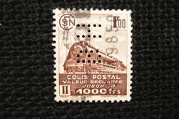 Perfin Lochung France Colis Postaux N° 187B Perforé BH - Perforés